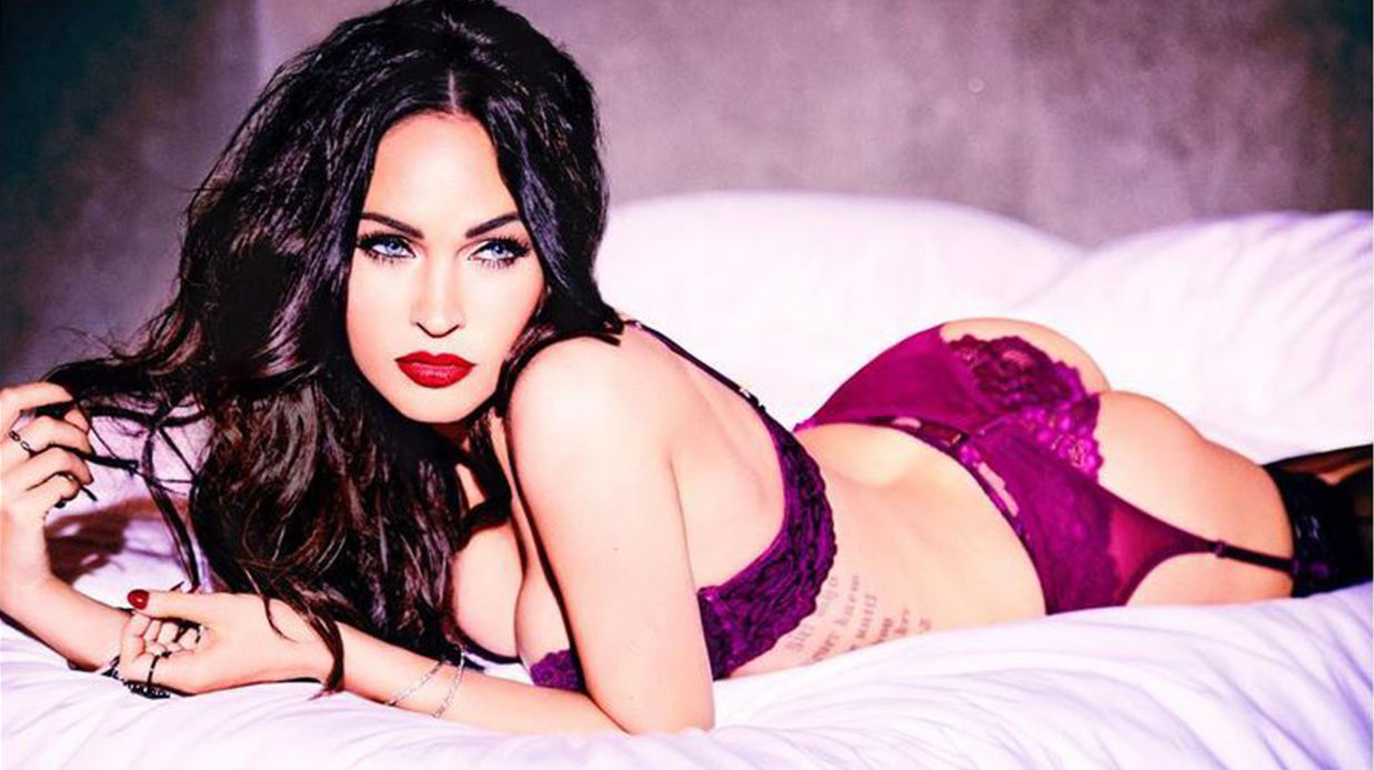 Megan Fox torride en porte-jarretelles et petite dentelle pour une marque de lingerie fine